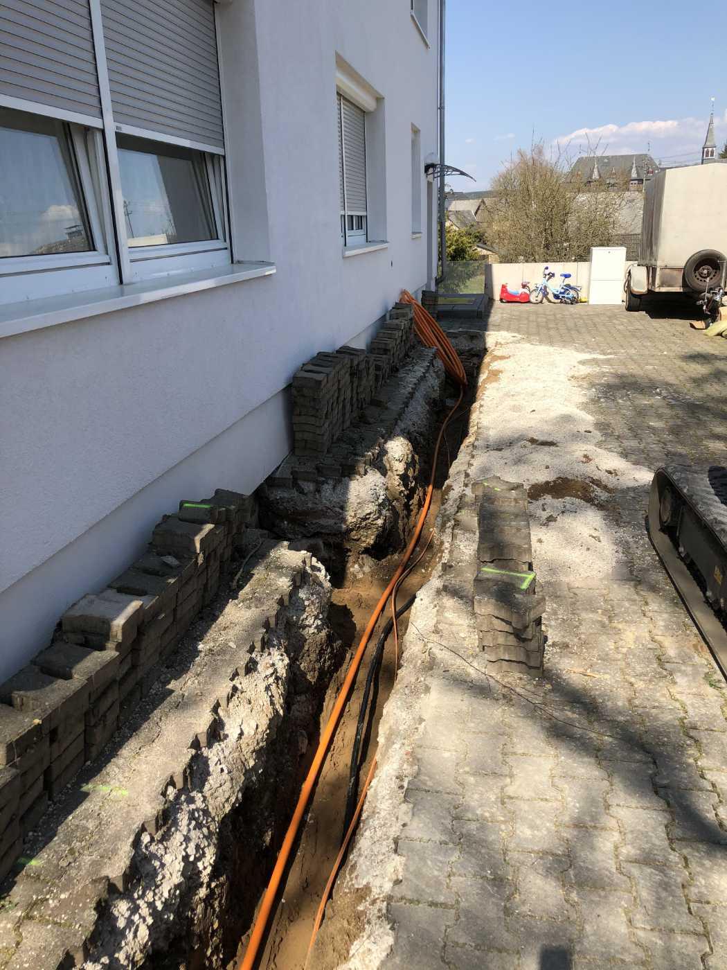 Külzer Bauunternehmen - Rohrverlegung
